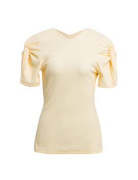 sweet-like-honey-gathered-cotton-blend-top by maggie-marilyn