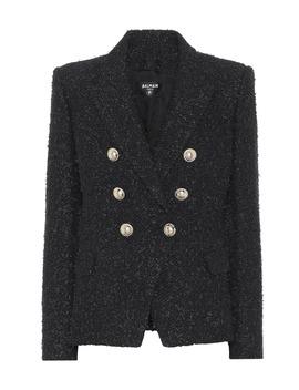 bouclé-cotton-blend-blazer by balmain