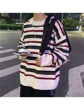 chuoku---long-sleeve-striped-knit-top by chuoku