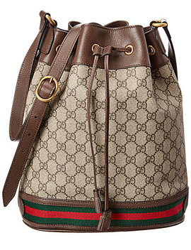 gucci-ophidia-gg-supreme-canvas-&-leather-bucket-bag by gucci