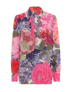 floral-silk-blouse by valentino