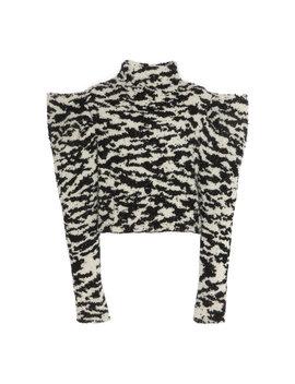 delphine-zebra-print-wool-blend-knit-turtleneck by isabel-marant