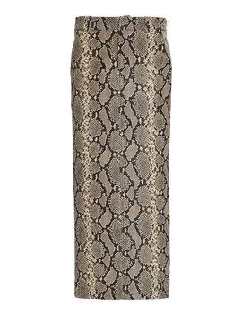 snake-effect-leather-midi-skirt by alexander-wang