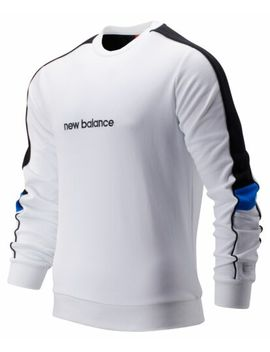 new-balance-mens-nb-athletics-classic-crew-white-with-black-&-blue-size-m by new-balance