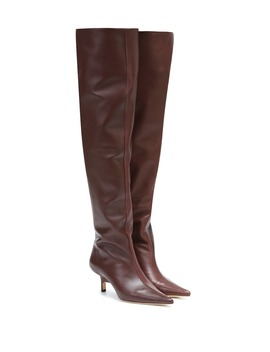 ashley-leather-knee-high-boots by rejina-pyo
