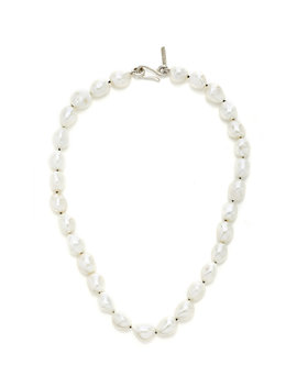 pearl-and-sterling-silver-necklace by sophie-buhai