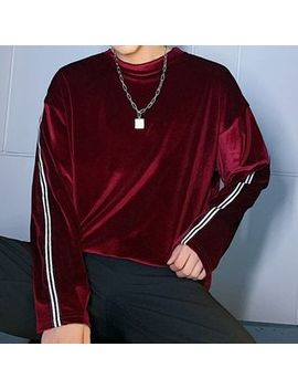 bjorn---taped-velvet-sweatshirt by bjorn