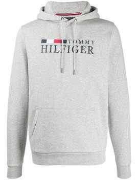 logo-print-hoodie by tommy-hilfiger
