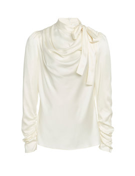 draped-tie-detailed-silk-blend-top by zimmermann