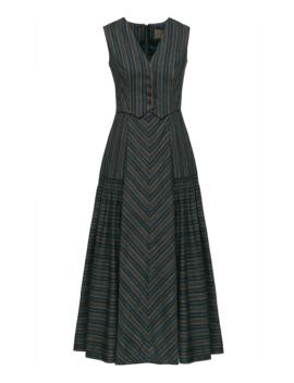 old-west-cotton-blend-midi-dress by lena-hoschek