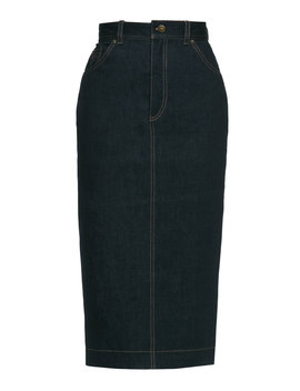 jailhouse-stretch-denim-midi-skirt by lena-hoschek