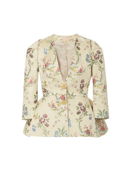 floral-jacquard-peplum-jacket by brock-collection