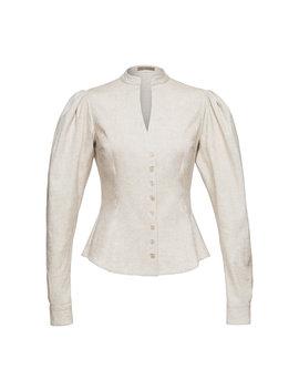 dr-quinn-linen-blend-top by lena-hoschek
