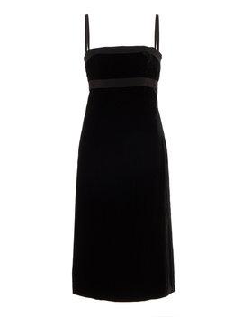 grosgrain-trimmed-velvet-midi-dress by brock-collection