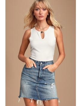 high-rise-deconstructed-medium-wash-denim-mini-skirt by levis