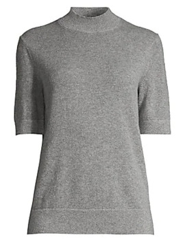 cashmere-short-sleeve-turtleneck-pullover by lafayette-148-new-york
