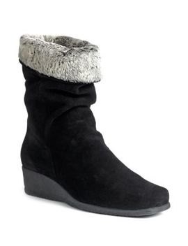 fancy-faux-fur-trimmed-suede-wedge-boots by la-canadienne