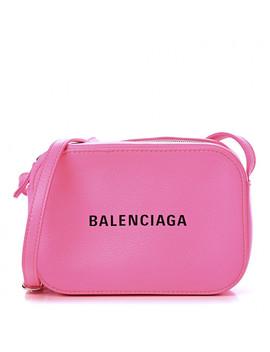 balenciaga-calfskin-everyday-logo-xs-camera-bag-neon-pink by balenciaga