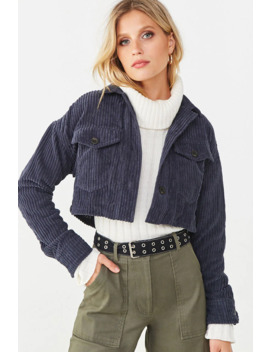 ribbed-chenille-cropped-jacket by forever-21