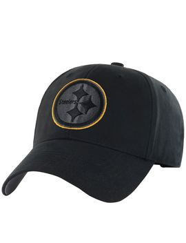 Nfl Classic Black Adjustable Cap by Qvc