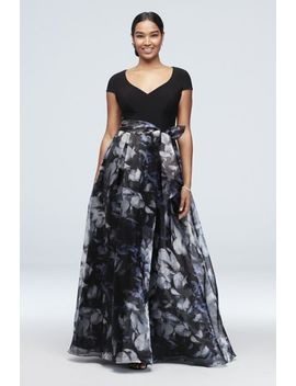 printed-organza-ball-gown-with-jersey-bodice by ignite