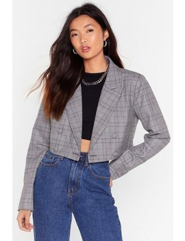how-grid-you-guess-check-cropped-blazer by nasty-gal