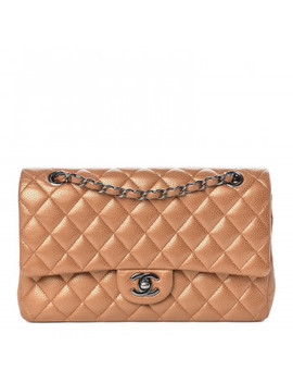 chanel-metallic-caviar-quilted-medium-double-flap-copper by chanel