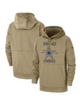Dallas Cowboys Nike 2019 Salute To Service Sideline Therma Pullover Hoodie   Tan by Nike