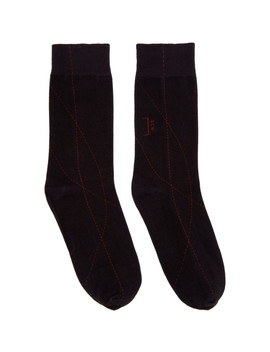 black-thick-overlocked-socks by a-cold-wall*