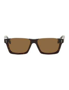 tortoiseshell-semi-rimless-sunglasses by stella-mccartney