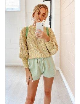 quiet-nights-knit-shorts-__-sage by vergegirl