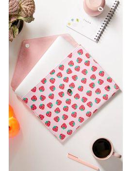 "wildflower-strawberry-13""-laptop-clutch-case by wildflower"