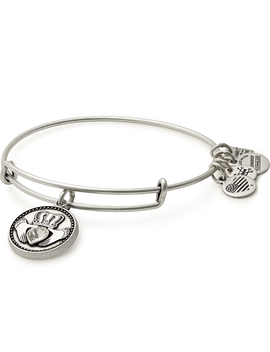 Claddagh Charm Bangle Rafaelian Silver by Alex And Ani