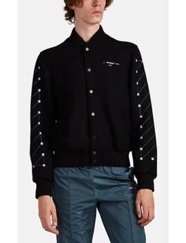 grid-logo-wool-blend-bomber-jacket by off-white-c_o-virgil-abloh