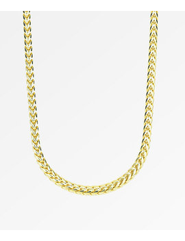 "The Gold Gods 6mm Curved Franco Gold 22"" Chain by Zumiez"