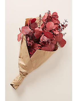 dried-red-eucalyptus-bouquet by anthropologie