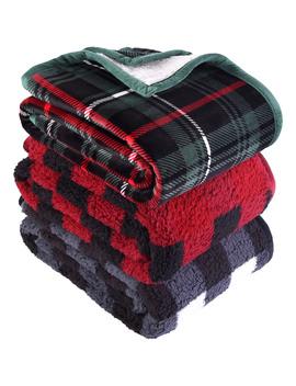 "better-homes-&-gardens-sherpa-throw-blanket,-50""-x-60"",-gray-cable-knit by better-homes-&-gardens"