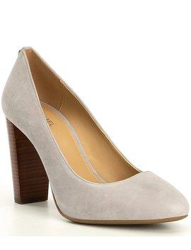 susan-suede-flex-block-heel-pumps by michael-michael-kors