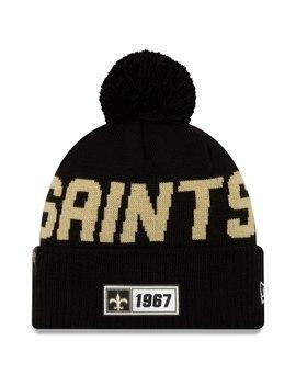 mens-new-orleans-saints-new-era-black-2019-nfl-sideline-road-official-sport-knit-hat by nfl