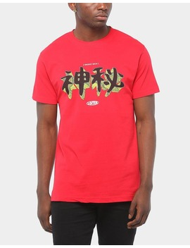 Loiter Nyc Snake Skin Ss Tee Red by Loiter Nyc