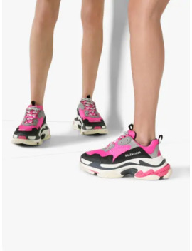 Pink Triple S Sneakers by Balenciaga