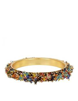 18 K Gold Multi Color Bangle by Liv Oliver