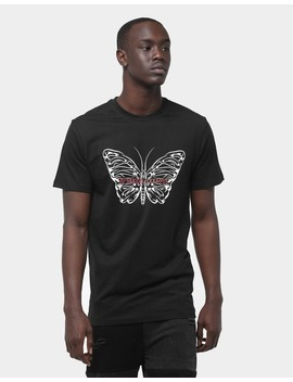 Goat Crew Butterfly Effect Ss Tee Black by Goat Crew