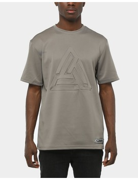 Black Pyramid Maze Logo Embossed Shirt Grey by Black Pyramid