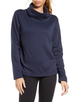 funnel-neck-pullover by zella