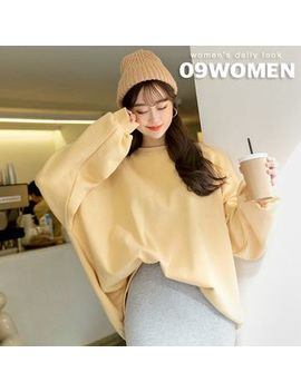 seoul-fashion---colored-fleece-lined-oversized-pullover by seoul-fashion