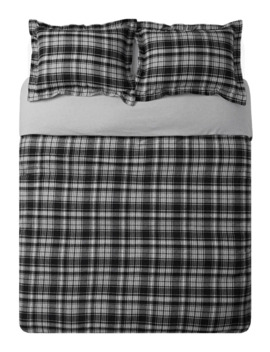 monroe-recover-recycled-flannel-3-piece-duvet-cover-set by distinctly-home