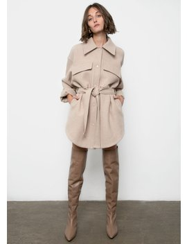 Beige Cargo Dress Jacket by The Frankie Shop