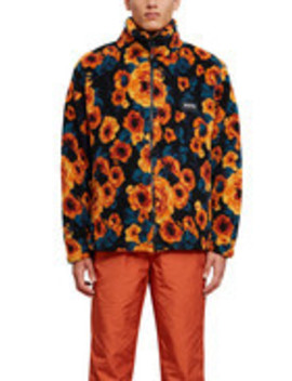 Curly Fleece T Emin Jacquard 2 Jacket by Napa Orange By Martine Rose