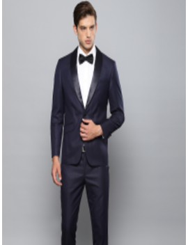 navy-blue-self-design-single-breasted-slim-fit-tuxedo-suit by louis-philippe